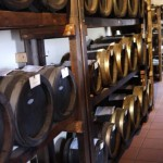 Balsamic vinegar barrels in Reggio Emilia